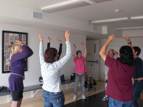 WFHC Clients enjoying Qi Gong