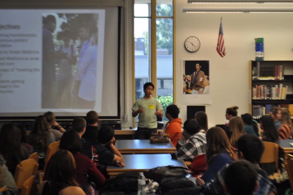 Ryan Nguyen Speaking to HS Students About DWW
