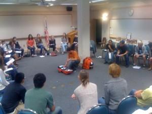 Volunteer Training courtesy of super-volunteer Aaron Lewis